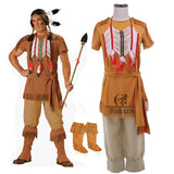 Rolecos Brand Indian Women Pocahontas Aboriginals Cosplay Costume Fancy Dress Costume Unisex Halloween Costume and Accessories