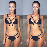 Bikini 2017 Hot Sale Swimwear Women Bikini Set Cross Bandage Beach Bathing Suit Top Low Waist Swimsuit Push Up Brazilian Biquini