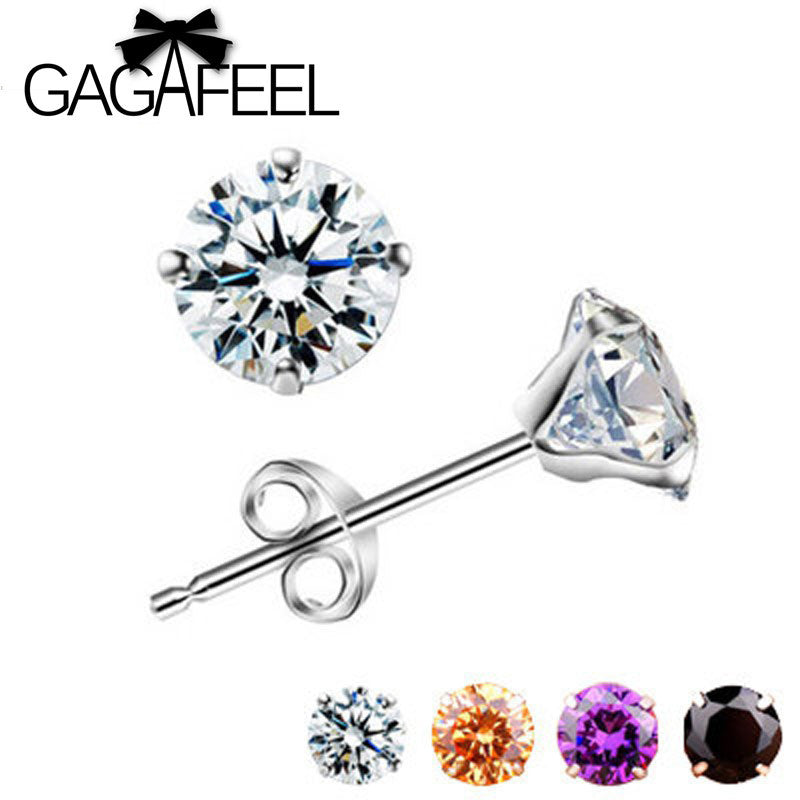 GAGAFEEL Genuine100% Real Pure 925 Sterling Silver earrings 5 colors  Beautiful New Arrival Top Quality  Wholesale Price
