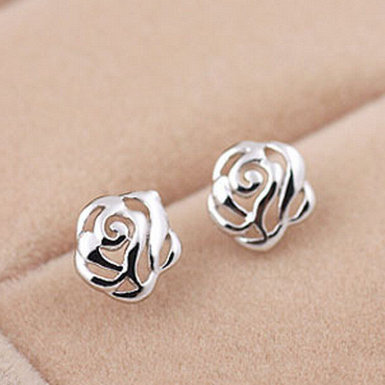 925 Sterling Silver Stud Earrings Brincos para as mulheres s for women bijoux Jewelry wholesale silver earring