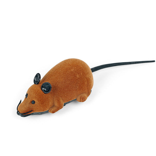 3 Colors Wireless Remote Control Mouse Toy Interactive Plush Electronic RC Rat Mice Funny Cat Toy