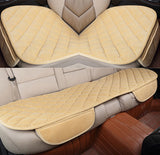 Karcle 3PCS Car Seat Covers Set Universal Velvet Breathable Seat Mat Protector Anti-Skid Driving Cushion Car-styling Accessories
