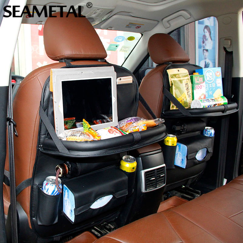 Car Back Seat Storage Organizer Net Pockets Bag Box Multi-function Travel Universal Container Phone Holder Stowing Tidying