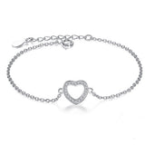 Authentic New Brand Women Infinity Bracelet 925 Sterling Silver CZ Diamond Charm Bracelet For Women Wedding Jewelry Gift YS1001