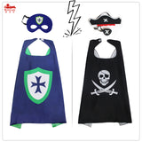 70*70 cm Child Pirate Cape and Mask costume party decoration Christmas Halloween kids masque costume knight cape mask cloak