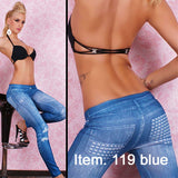 Women Imitate Denim jeggings women Denim jeans leggings Black and Blue color 20 style for sale Free shipping