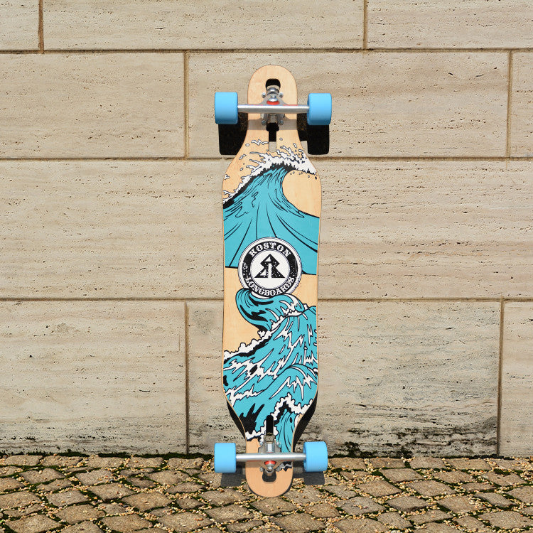 KOSTON pro longboard completes, 41inch  drop through style long skateboard  completed set for cruising purpose