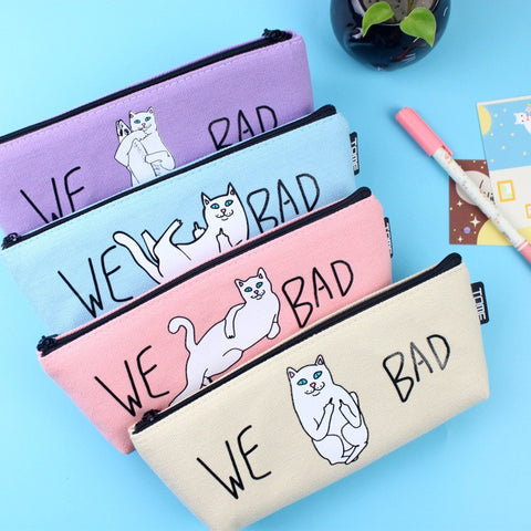 (1Pc/Sell) Kawaii Pencil Case Canvas School Supplies Bts Stationery Gift Estuches School Cute Pencil Box Pencilcase Pencil Bag - Blobimports.com