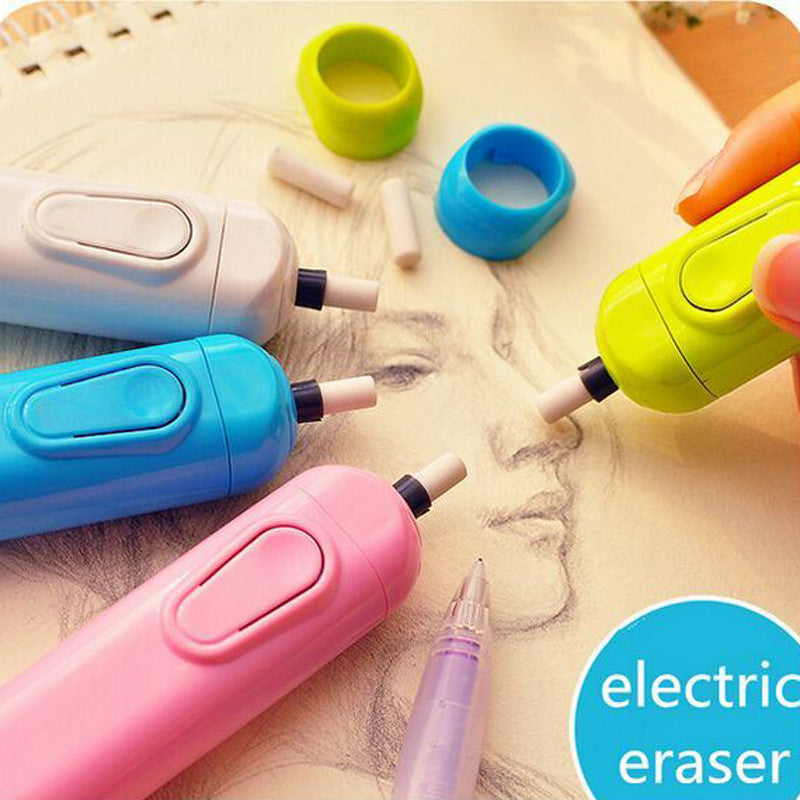 Derwent battery operated eraser electric eraser automatic school supplies leather stationery child day gift material escolar