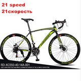 EUROBIKE 21/27 speed 700C road racing bike carbon steel frame mountain road bicicleta compete bicycle