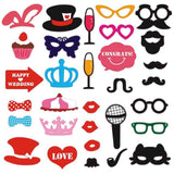 31pcs/set Photo Booth Props Mustache Red Lips For Fun Girls Birthday Bachelorette Party Photobooth Props Wedding Decorations