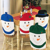 4 pc New Style Christmas Chair Covers Santa Clause Snowman Dining Chair Covers Seat Back Christmas Decoration Table Accessories Gift