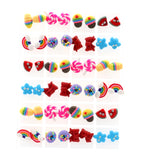 Brincos Wholesale 24 Pairs Environmental Free Plastic Resin Candy Children Stud Earring For Party Earrings For Women Pendientes