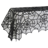Spider Web Net Black  Lace Halloween Easter Festival Tablecloth For Parties Event Decor, & Dinner New