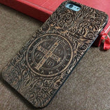 QIUWHEAT Real Natural Walnut Rosewood Wood Phone Cases for iPhone 5 5S SE 6 6S 6Plus 6S Plus 7 Plus ,for iPhone 7 Case Wooden