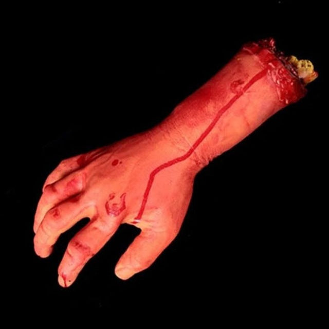 Halloween Horror Props Bloody Hand Haunted House Party Decoration Scary Hand Finger Leg Foot Brain Heart