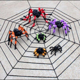 30/50/75cm Large Size Plush Spider made of wire and plush two style Funny Toy for party or Bar KTV halloween decoration