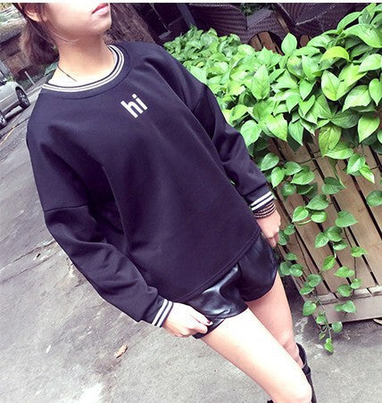2015 New Fashion Casual Sweatshirt College Wind Retro Simple Round Neck Cashmere Harajuku Letters Sweatshirt Jacket 422 #