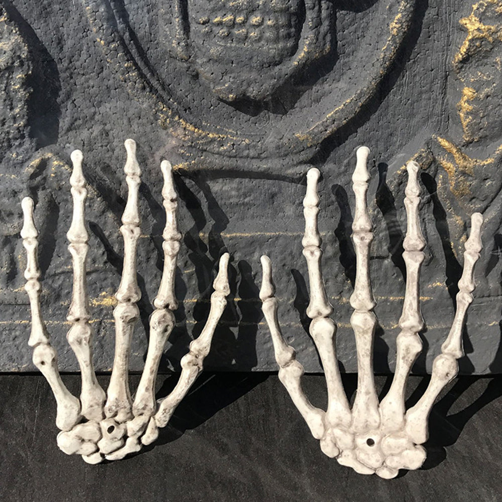ZXZ 2017 New Skeleton Hand Claw Witch Hands Haunted House Escape horror props Decor Rockabilly/Goth/Emo/Creepy/Halloween