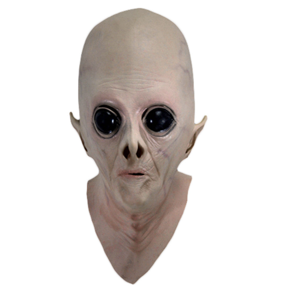 Realistic UFO Alien ET Extra Terrestrial face Halloween full head masks Latex Creepy Costume Party Cosplay scary prop toy gift