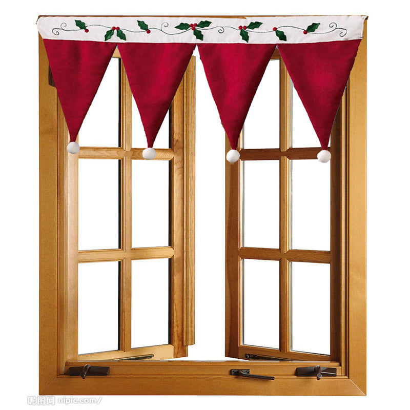 High Quality Door Window Drape Panel Christmas Curtain Decorative Home Sep2