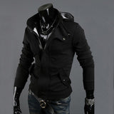 Mens Hoodies Sweatershirt 2017 Autumn Winter Long Sleeve Zipper Hooded Casual Slim Pockets Warm Coat  Hoodies Male Jackets 3XL