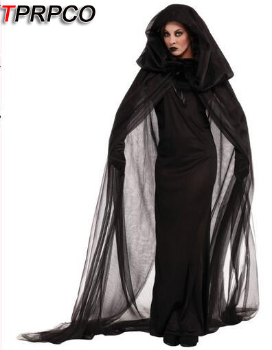 TPRPCO Gothic Witch Costume Halloween Sorceress Costume Adult Witch Fancy Dress Witch Wicked Cosplay C49200