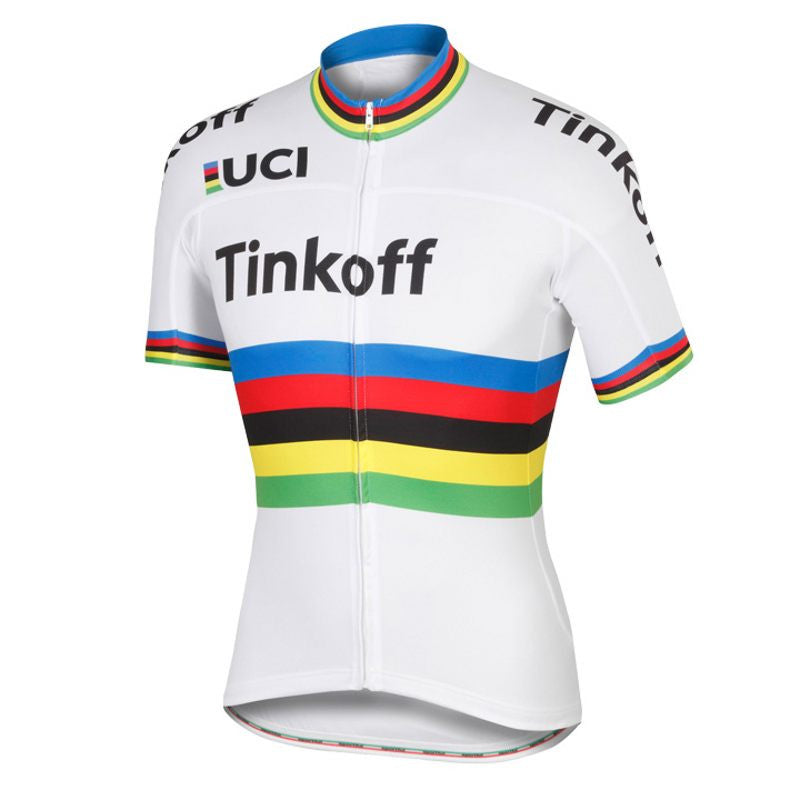 2016 World Tour champion jersey team tinkoff saxo rainbow Cycling jerseys quick-dry cloth MTB Ropa Ciclismo Bicycle maillot
