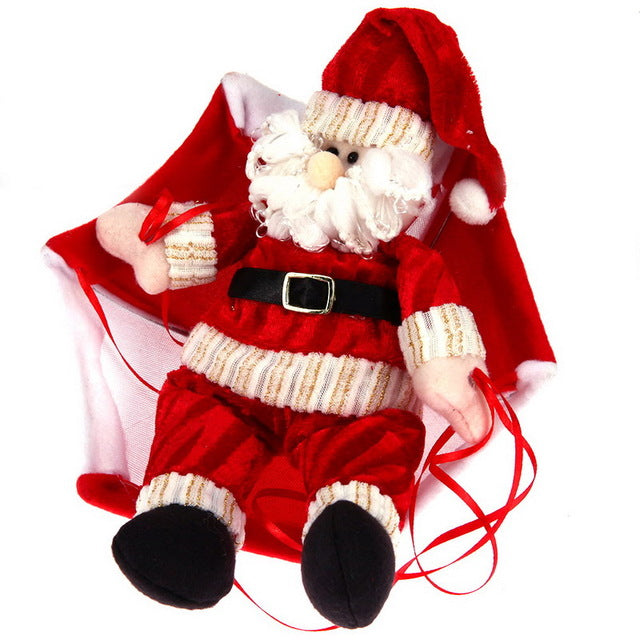 Christmas Home Ceiling Decorations Parachute 24cm Santa Claus Smowman New Year Hanging Pendant Christmas Decoration Supplies