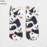 Women 3D Socks High Quality Brand Harajuku Animal Strawberry Food Print Ankle Sock Women's Boat Meias