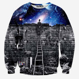 2016 New fashion Men/women's sweatshirts 3d print A person watching space Meteor shower casual galaxy hoodies