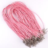 9 Colors Sale 10 Pcs/lot  DIY Leather Chains Pendant  Charms Findings  String Cord 1.5 mm Black