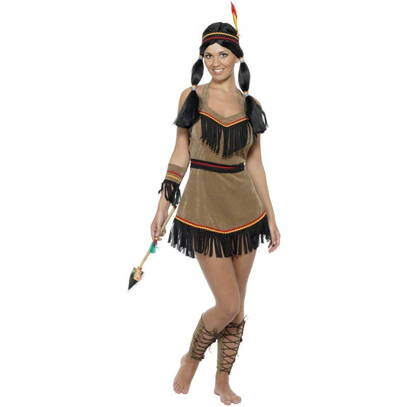 Indian Princess Women Costume Adult Carnival Fancy Dress Halloween Cosplay Outfit
