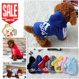 Dog Clothes Pets Coats Soft Cotton Puppy Dog Clothes Adidog Hoodies Clothes For Dog New 2016 Autumn Pet Products 7 Colors XS-XXL