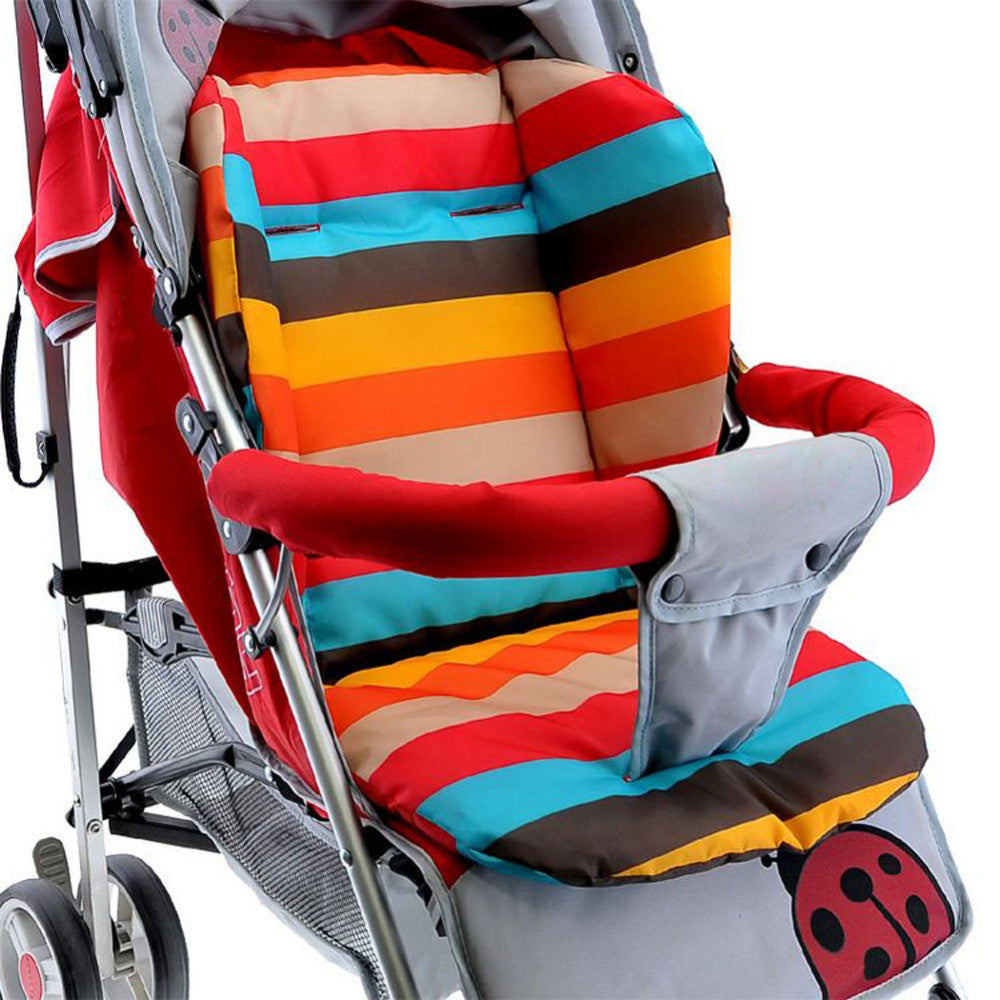 Infant Baby Stroller Cushion Seat Pushchair Baby Chair Mat Rainbow Color Soft Thick Pram and Pushchairs Cushion BB Cushion