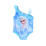 Girls  Elsa Anna Printed Swimwear Baby Girls One Piece Beach Swimming Suit Clothes Baby Bathing Swimsuit Clothing T088