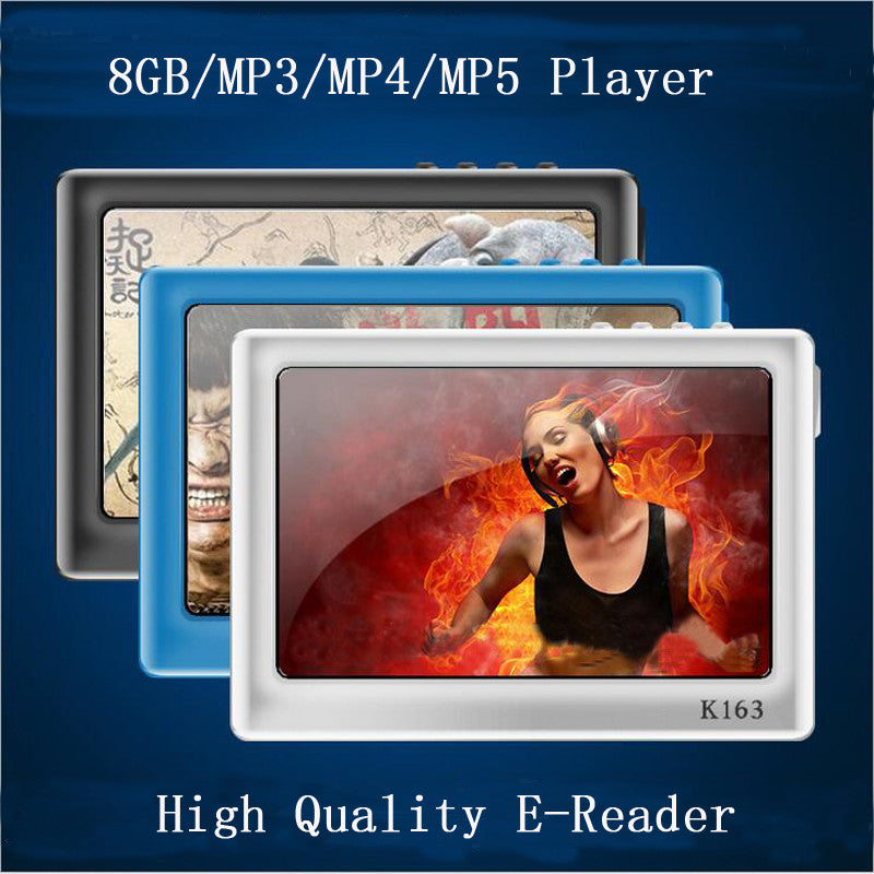 Hot Sale 8GB 4.3 inch 720P HD Definition Screen MP3 Mp4 Mp5 Music Video Player+TV out+Video +ebook Reader +Game Player+Frame