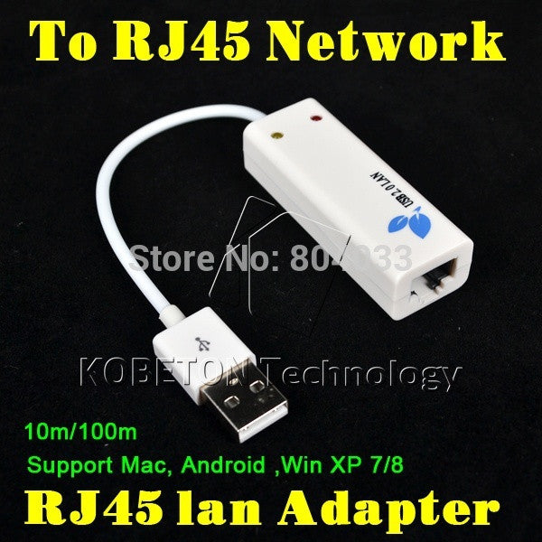 USB 2.0 to RJ45 Lan Network Ethernet Adapter Card Asix AX8872B For Mac OS Android Tablet pc Laptop SmartTV Win 10 7 8 XP 100Mbps