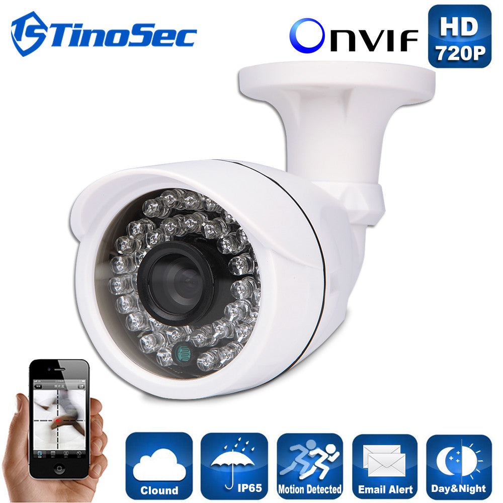 IP Camera 720P/960P/1080P(1MP/1.3MP/2.0MP) Outdoor Waterproof Bullet Night Version IR 3.6mm Lens P2P ONVIF ABS Plastic Housing
