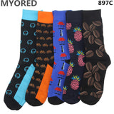 MYORED 5pairs/Lot fashion mens combed cotton long socks men socks set colorful funny happy socks wedding sock business sock gift