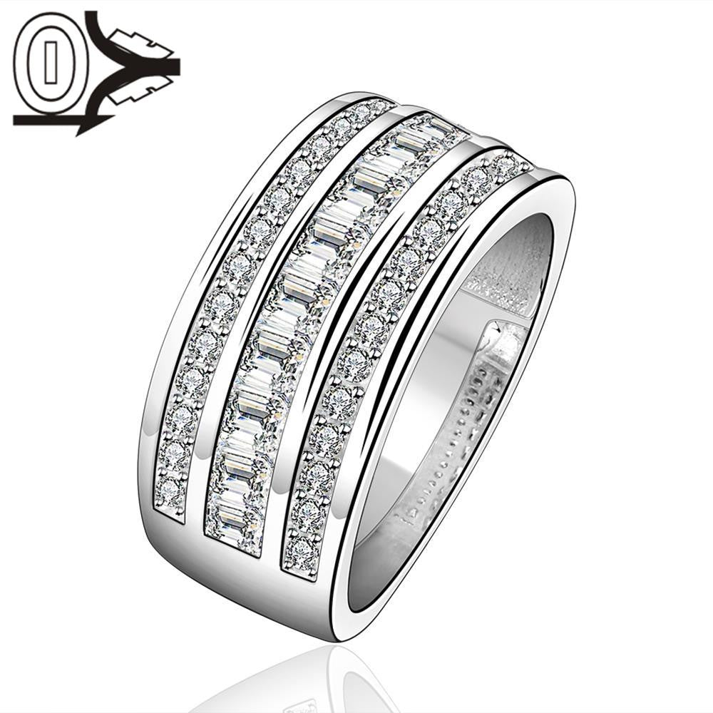 Christmas Gift!!Wholesale 925 Silver Ring,Sterling Silver Jewelry,stripe Ring SMTR577