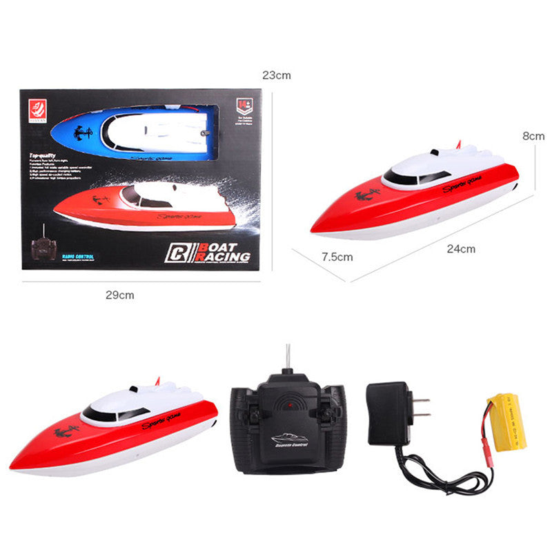 Kids RC Toy Boat Super Mini High Speed  Performance Boat Toy RC Boat Racing Game Toy Boat KidsToys Color at Random
