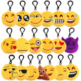 Fashion Small Facial Expression Multiple Emoticon Cool Wink Key Chain Toys Gift Cute keychain