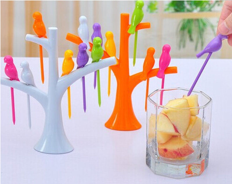 Kitchen Accessories Cooking Fruit Vegetable Tools Gadgets Fashion Fork Set Eco-Friendly Sign 2016 New Hot Sale Special Offer