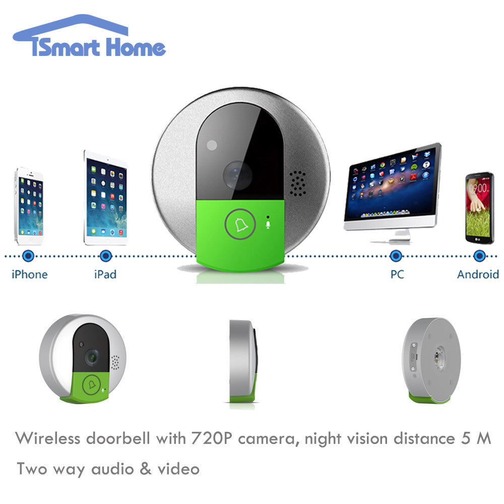 Vstarcam Wireless Doorbell Camera WiFi Door Intercom Peehole Night Vision wi-fi IP Video Door Camera Bell Phone For IOS Android