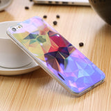 Modern Blue Ray Light Clear Mobile Phone Case For iPhone 6 6S 6 Plus 5.5 6S Plus Funny Pattern Transparent Cover For iPhone 6 6S