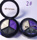 Dropshipping 3 Mixed Colors Women Comestic Eyeshadow Long Lasting Makeup Eye Shadow Free Shipping