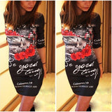 celebrity Summer 2016 fashion Character O-Neck Print Dress half Sleeve Bodycon dress knitting empire solid Casual Dress