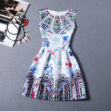 Women Fashion Dress Retro leisure Printing Sleeveless Women Summer Dress Sexy Party Dresses vestidos Large Size Bottoming Dress