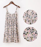 New Fashion Summer Mori Girl Dress O Neck Sleeveless Print Floral Vestidos Women Sexy Beach Spaghetti Strap Dress